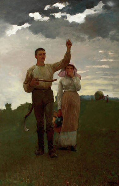 Wall Art - Painting - The Home Signal, 1889 by Winslow Homer