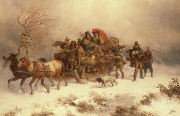 Wall Art - Painting - The Homeward Journey, 19th Century by Richard Zimmerman