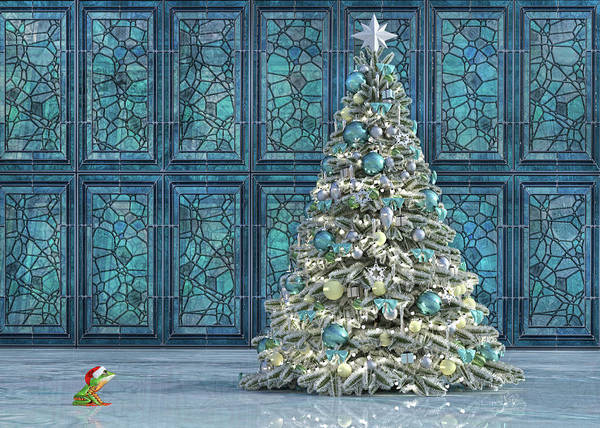 Wall Art - Digital Art - The Hoping Holiday Frog by Betsy Knapp