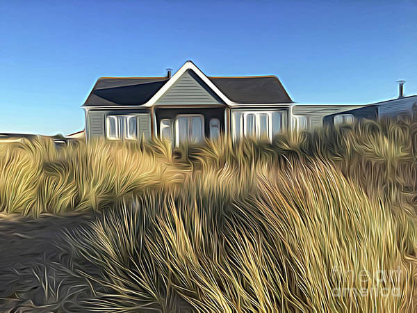 Bird Watching Digital Art - The House In The Marram by John Edwards