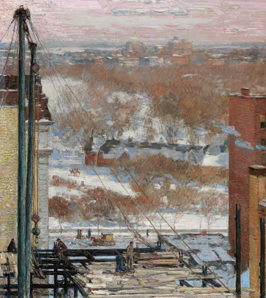 Park Avenue Painting - The Hovel And The Skyscraper, 1904 by Childe Hassam