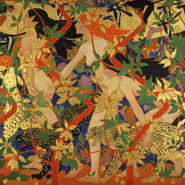 Wall Art - Painting - The Hunt, Previously Known As Diana And Her Nymphs, 1926 by Robert Burns