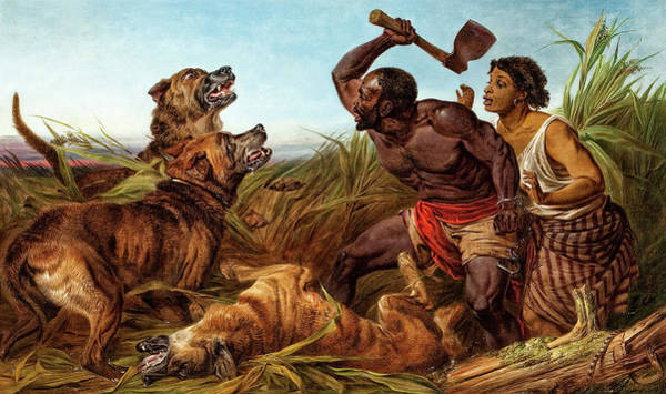 Wall Art - Painting - The Hunted Slaves, 1862 by Richard Ansdell