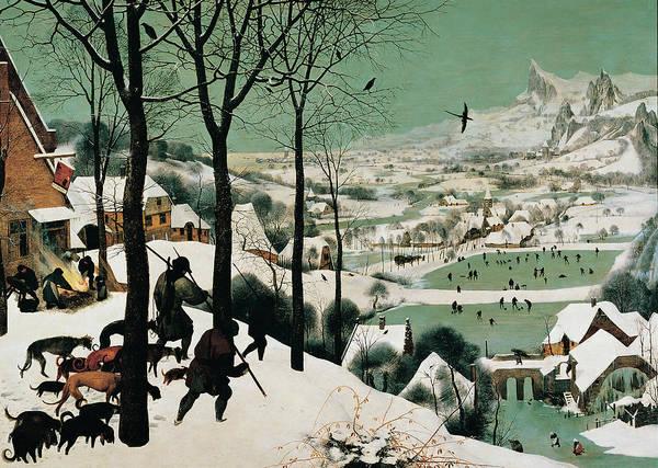 Painting - The Hunters In The Snow, By Bruegel by Mondadori Portfolio