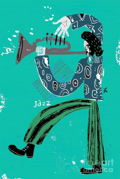 Wall Art - Digital Art - The Image Of A Jazz Musician Who Plays by Dmitriip