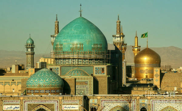 East Asia Wall Art - Photograph - The Imam Reza Shrine In Masshad, Iran by Travel Stock
