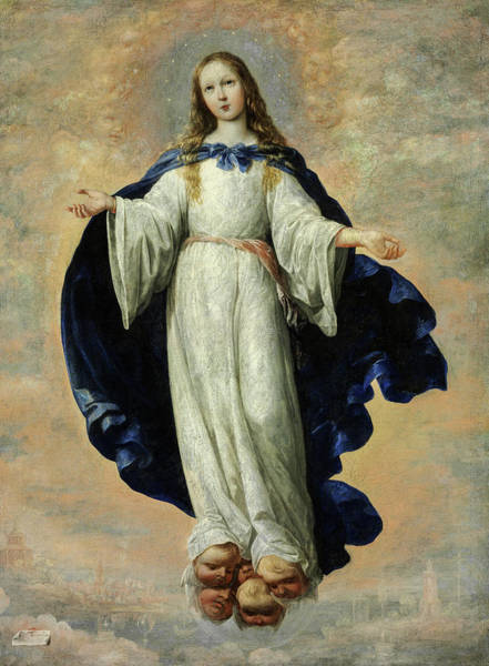 Wall Art - Painting - The Immaculate Conception, 1661 by Francisco de Zurbaran