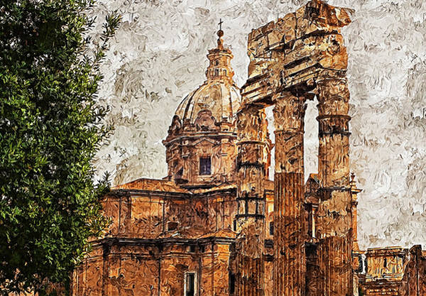 Painting - The Imperial Fora, Rome - 18 by Andrea Mazzocchetti