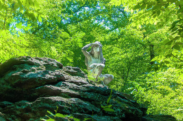 Wall Art - Photograph - The Indian Statue - Wissahickon Valley by Bill Cannon