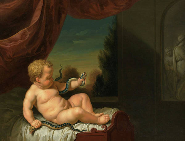 Wall Art - Painting - The Infant Hercules With A Serpent, 1722 by Pieter van der Werff