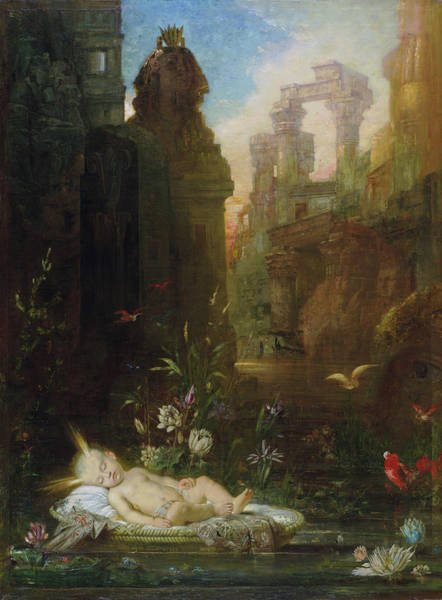 Wall Art - Painting - The Infant Moses - Digital Remastered Edition by Gustave Moreau