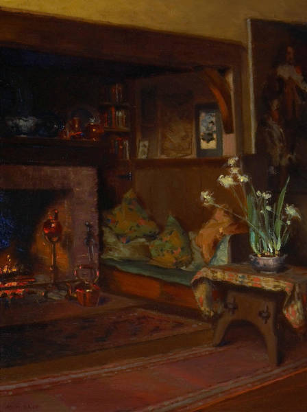 Painting - The Inglenook In My Studio by Mary Hiester Reid