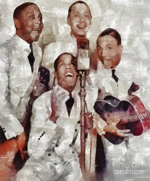 Wall Art - Painting - The Ink Spots by Mary Bassett