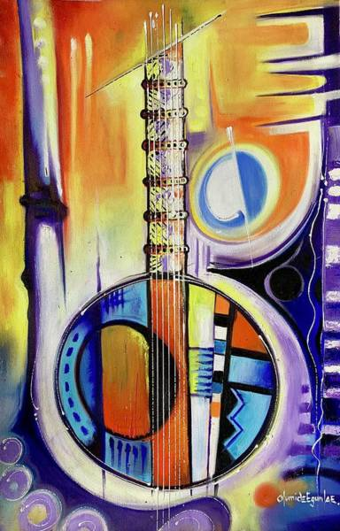 Painting - The Instrument by Olumide Egunlae