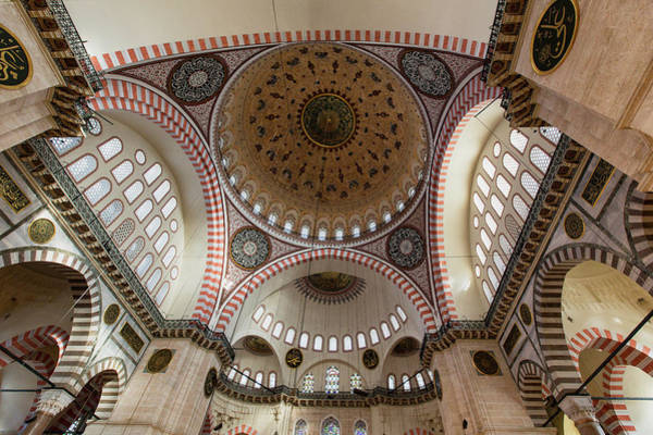 Suleymaniye Mosque Photograph - The Interior Of Süleymaniye Mosque by Marco Brivio