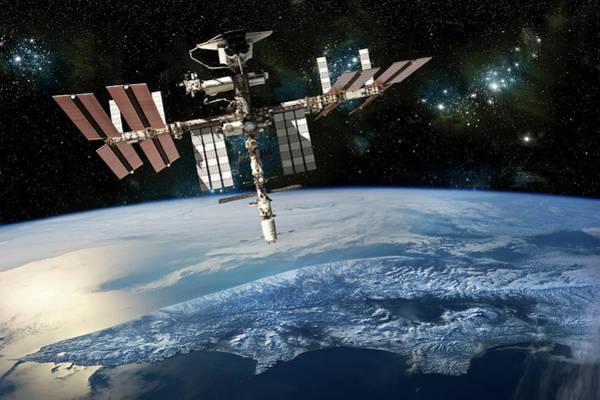 Digital Art - The International Space Station  by Marc Ward