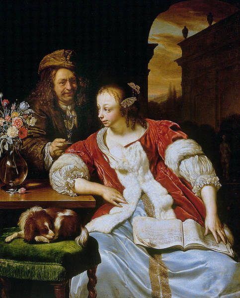 Painting - The Interrupted Song  by Frans van Mieris the Elder