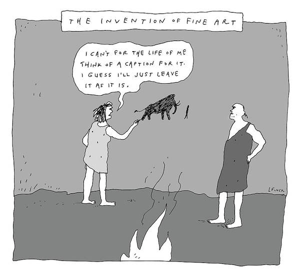 Drawing - The Invention Of Fine Art by Liana Finck