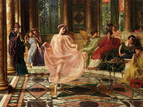 Wall Art - Painting - The Ionian Dance by Edward Poynter