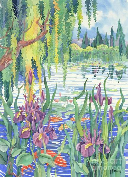 Pool Painting - The Iris Pool by Paul Brent