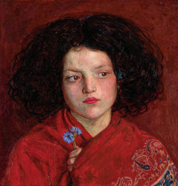 Wall Art - Painting - The Irish Girl, 1860 by Ford Madox Brown