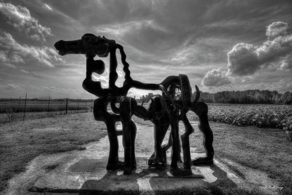 Time Magazine Photograph - The Iron Horse Full Sun B W The Iron Horse Farming Landscape Art by Reid Callaway