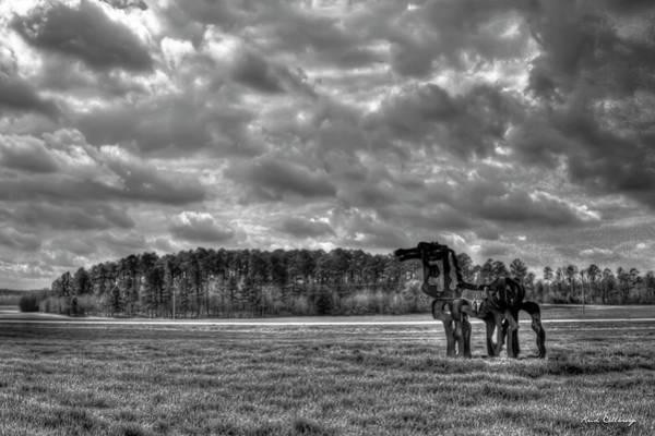 Wall Art - Photograph - The Iron Horse Rainy Day B W Winter Wheat Art by Reid Callaway