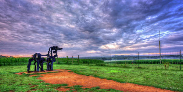 Time Magazine Photograph - The Iron Horse Sunrise Lookout U G A Iron Horse Farm Landscape Art by Reid Callaway