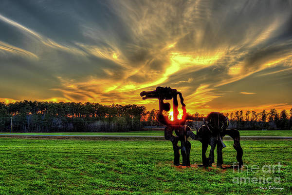 Photograph - The Iron Horse Sunset 2 Farming Landscape Art by Reid Callaway