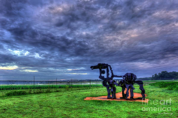 Time Magazine Photograph - The Iron Horse Sunrise Clouds U G A Iron Horse Farm Landscape Art by Reid Callaway