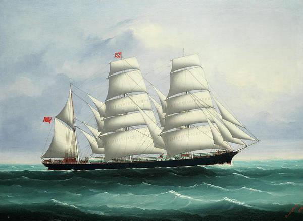 Wall Art - Painting - The Iron Ship Militiades by Kwong Sang