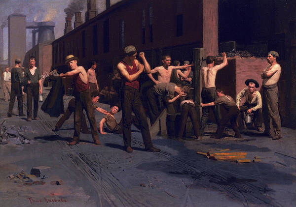 Wall Art - Painting - The Ironworkers' Noontime, 1880 by Thomas Pollock Anshutz