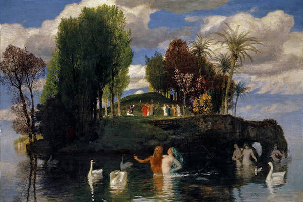 The Creation Of Adam Wall Art - Painting - The Isle Of The Living, 1888 by Arnold Bocklin