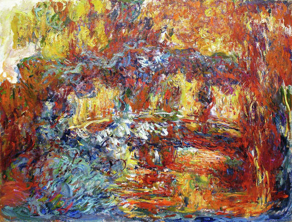 Wall Art - Painting - The Japanese Bridge, 1922 - Digital Remastered Edition by Claude Monet