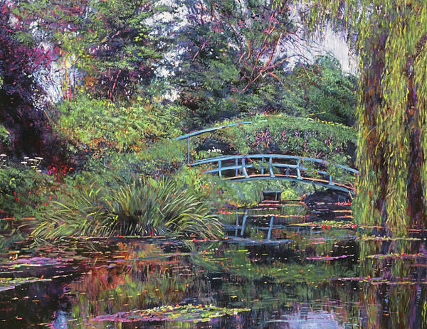 Giverny Painting - The Japanese Footbridge by David Lloyd Glover