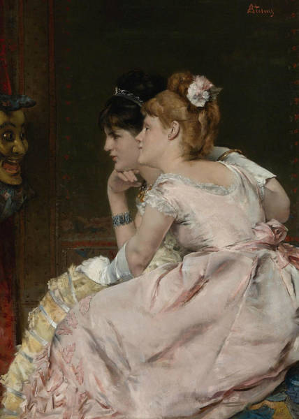 Wall Art - Painting - The Japanese Mask by Alfred Stevens