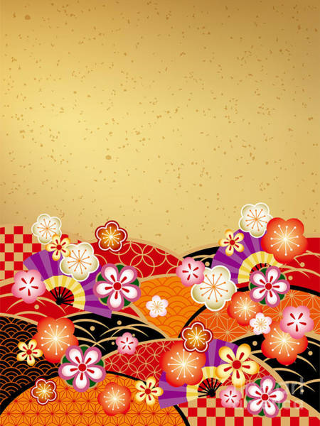 Wall Art - Digital Art - The Japanese Style Background Of The by Rie Sakae