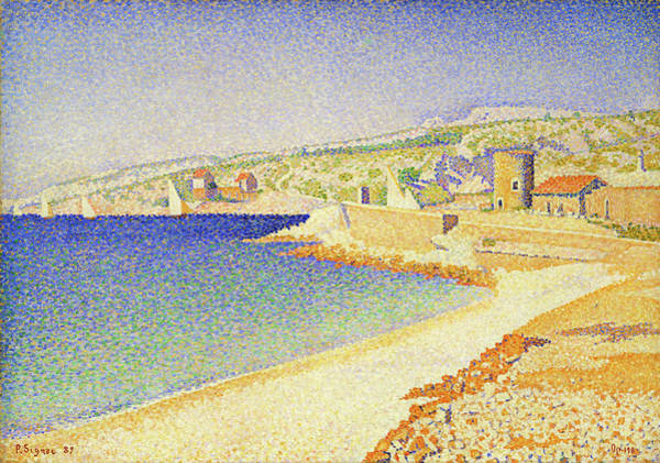 Wall Art - Painting - The Jetty At Cassis - Digital Remastered Edition by Paul Signac