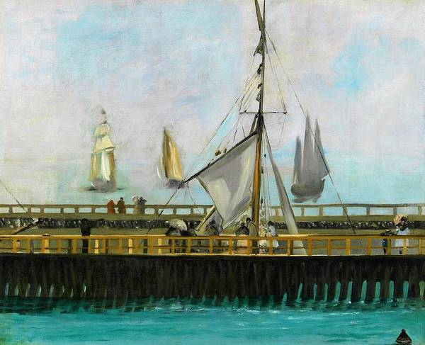 Manet Wall Art - Painting - The Jetty Of Boulogne-sur-mer - Digital Remastered Edition by Edouard Manet