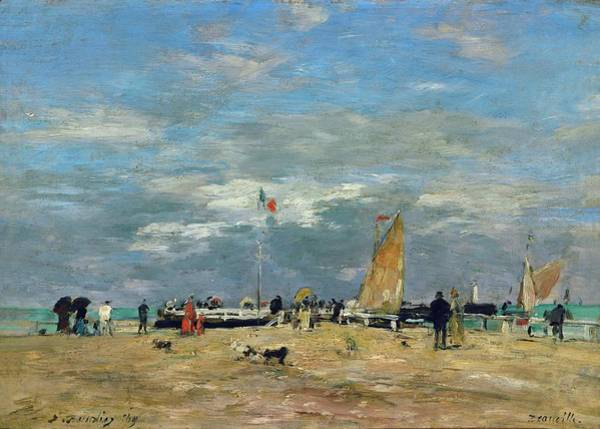 Balneario Wall Art - Painting - The Jetty Of Deauville, France. Oil On Canvas Inv. Rf 1967. by Eugene Boudin -1824-1898-