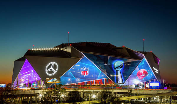 Wall Art - Photograph - The Jewel Of Atlanta Mercedes- Benz Stadium Super Bowl L111 Atlanta Night Art by Reid Callaway