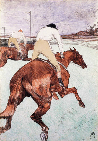 Wall Art - Painting - The Jockey - Digital Remastered Edition by Henri de Toulouse-Lautrec