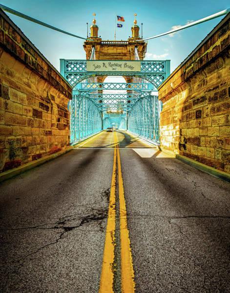 Photograph - The John A. Roebling Bridge - Cincinnati Ohio by Gregory Ballos