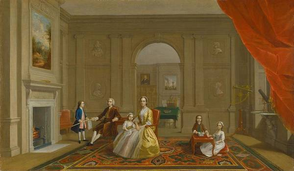 Wall Art - Painting - The John Bacon Family  by Arthur William Devis