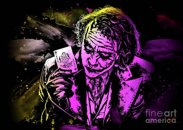 Digital Art - The Joker Art by Ian Mitchell