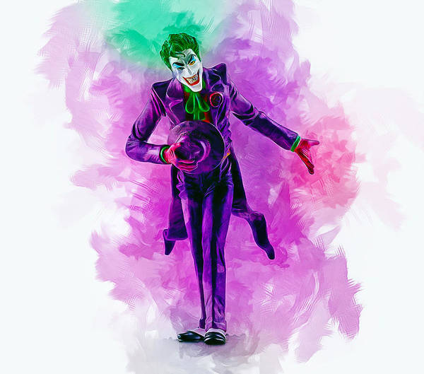 Digital Art - The Joker by Ian Mitchell