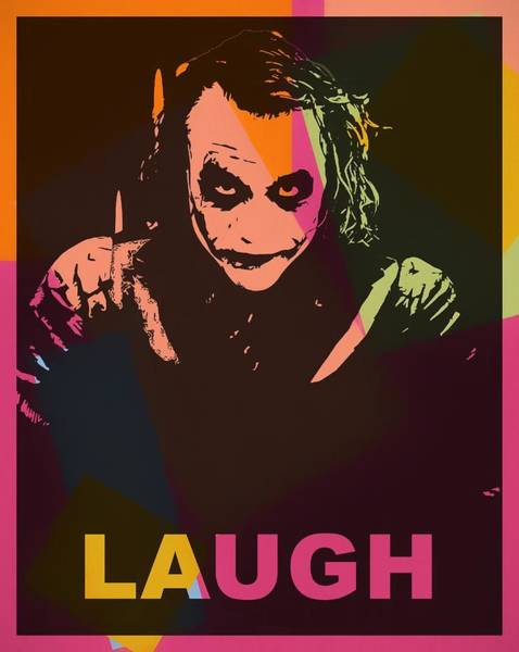 Wall Art - Painting - The Joker Pop Art by Dan Sproul