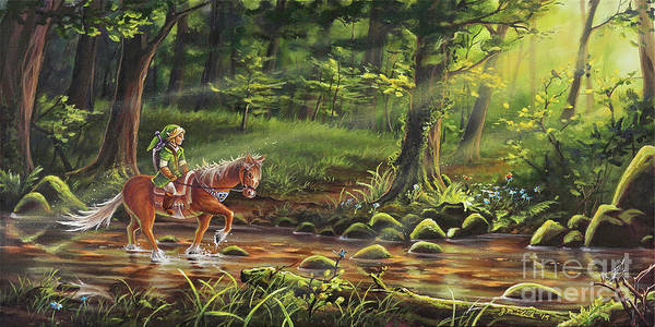 Fantasy Horse Wall Art - Painting - The Journey Begins by Joe Mandrick