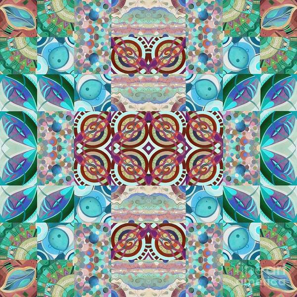 Painting - The Joy Of Design Mandala Puzzle Series 7 Arrangement 6 Inverted by Helena Tiainen