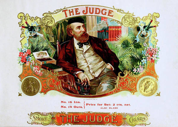 Photograph - The Judge Vintage Cigars  by Doc Braham